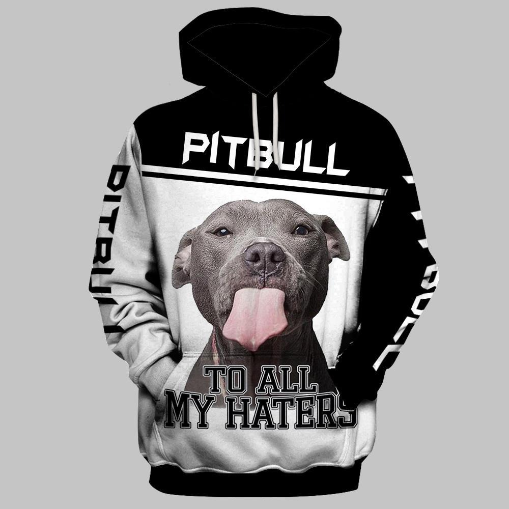 Pitbull to all my haters all over 3D print shirt and hoodie