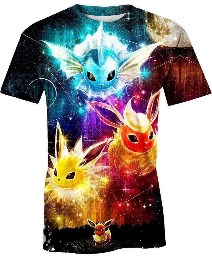 Pokemon Eevee evolution 3d hoodie and shirt