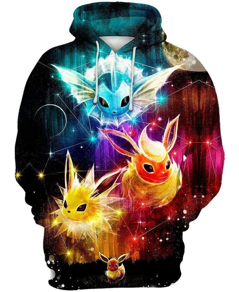 Pokemon Eevee evolution 3d hoodie