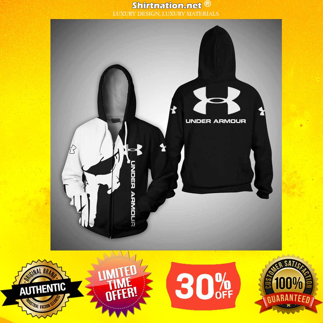 Punisher Skull Under Armour 3d shirt and zipper