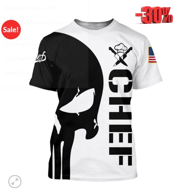 Punisher skull Chef full print 3d hot shirt