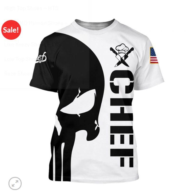Punisher skull Chef full print 3d shirt
