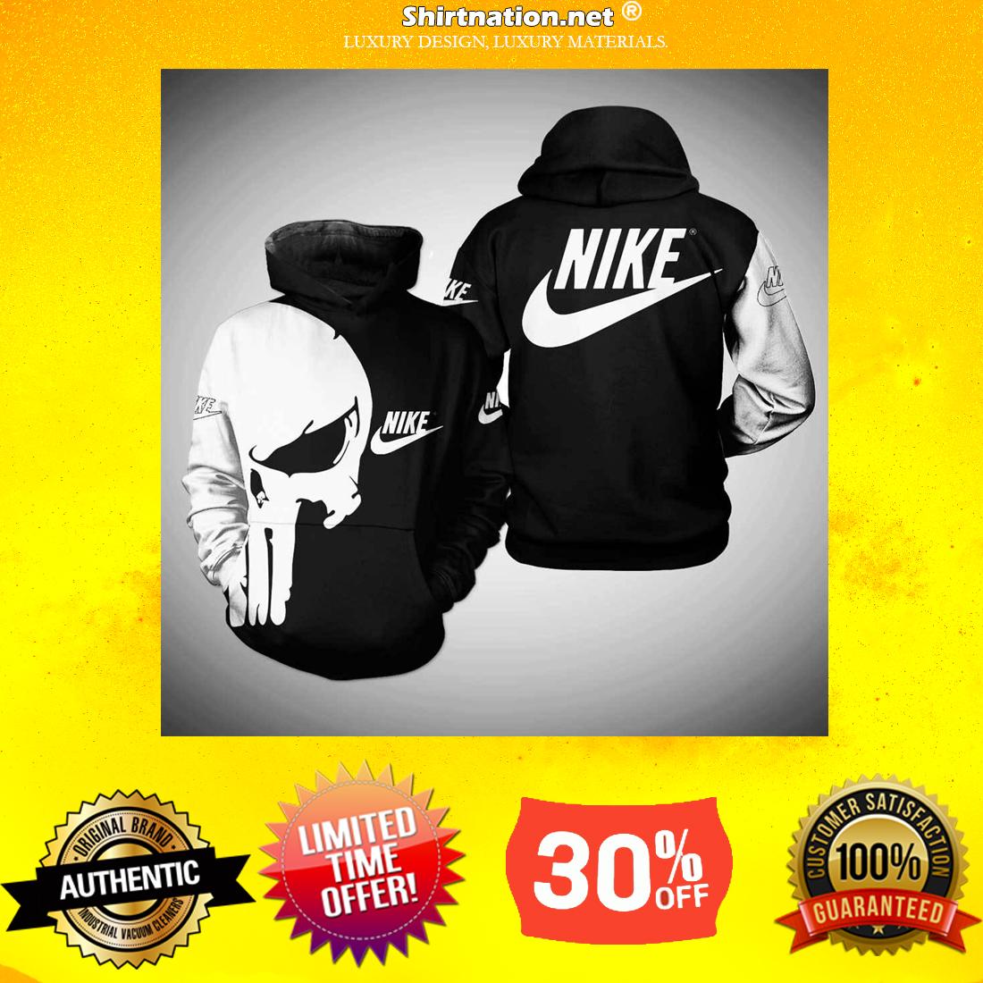 Punisher skull nike 3d shirt and hoodie