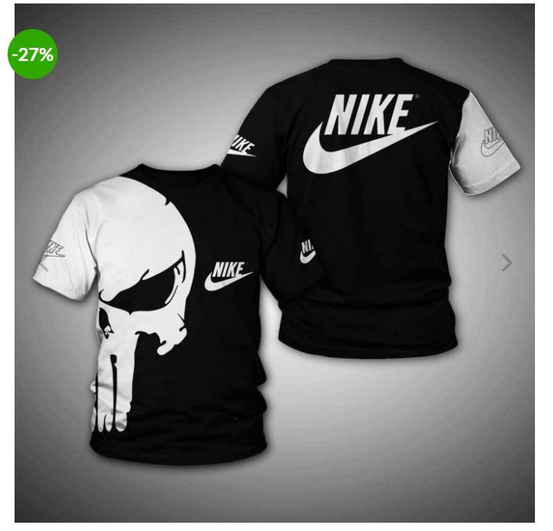 Punisher skull nike 3d shirt