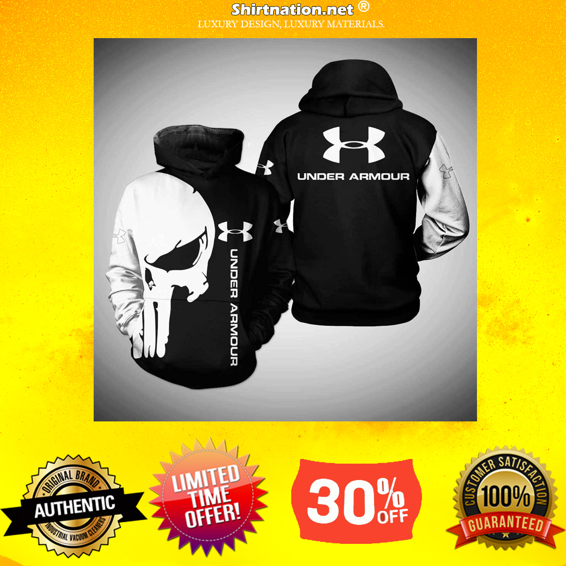 Punisher skull under armour 3d sweatshirt and hoodie