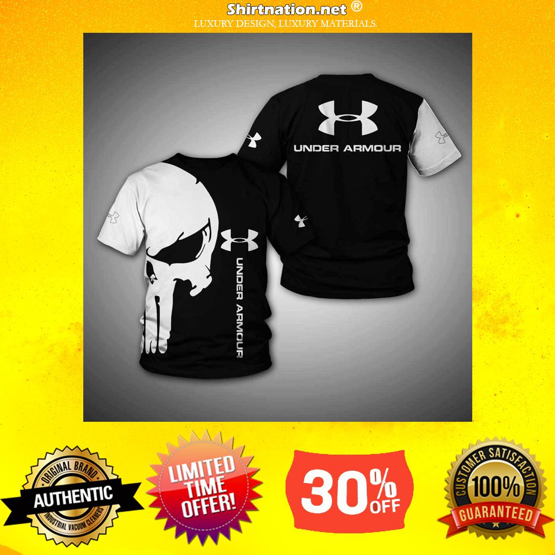 Punisher skull under armour 3d sweatshirt and shirt