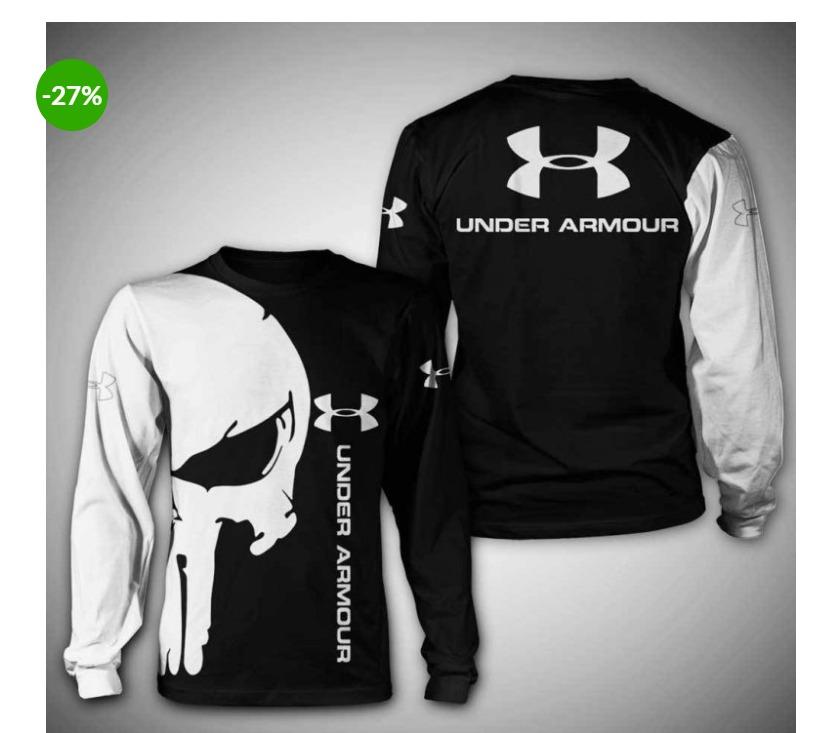 Punisher skull under armour 3d sweatshirt