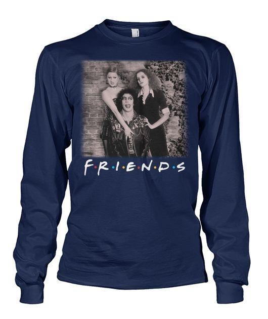 Rocky horror movie friends long sleeved shirt