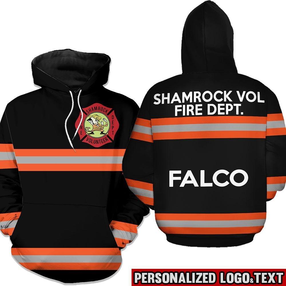 Shamrock volunteer firefighter dept 3D cool hoodie