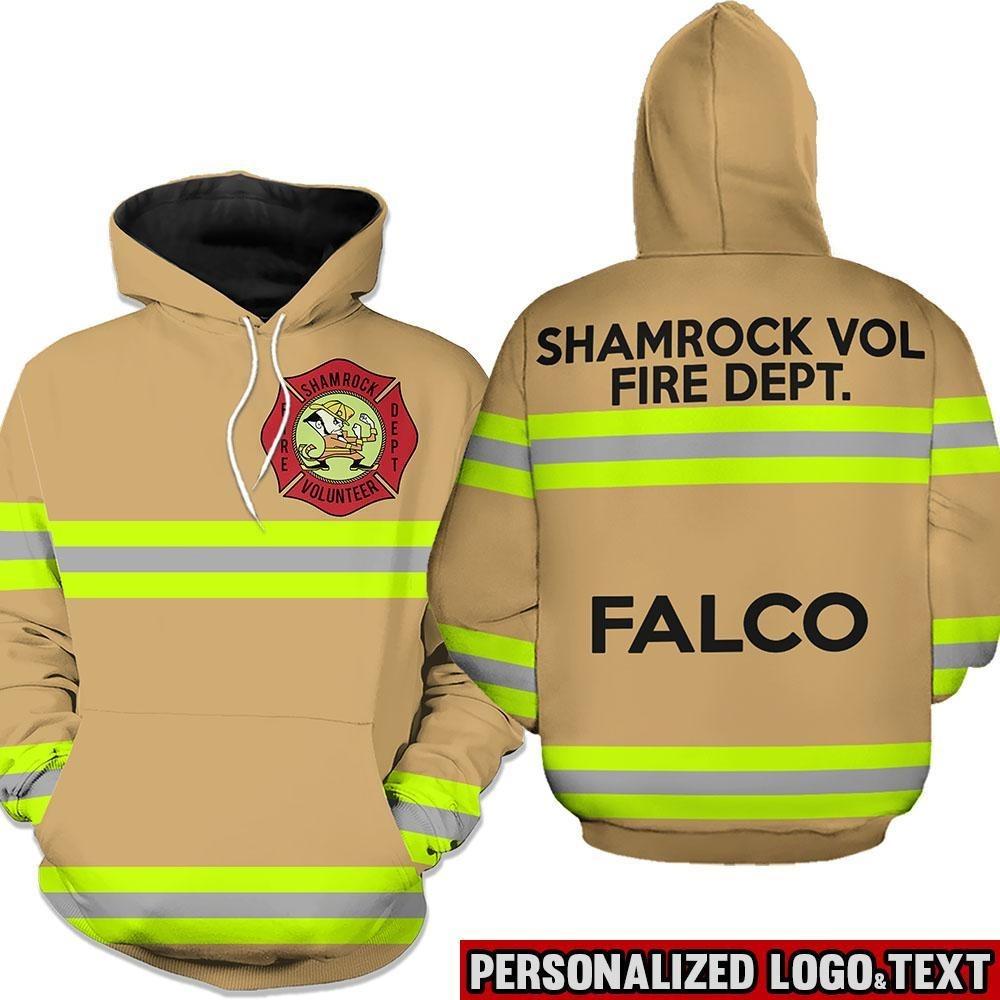 Shamrock volunteer firefighter dept 3D hoodie