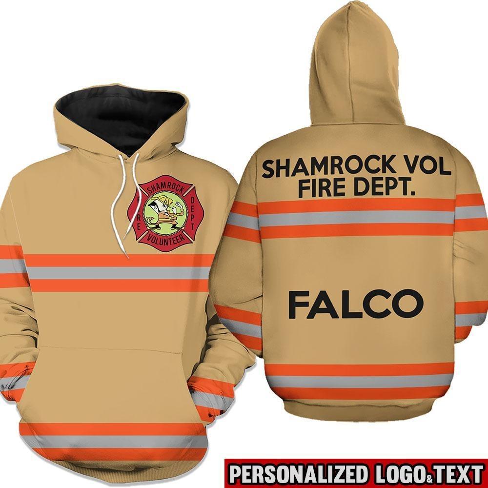 Shamrock volunteer firefighter dept 3D hot hoodie