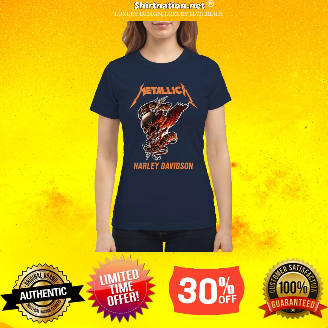 Skull Metallica Harley Davidson classic shirt