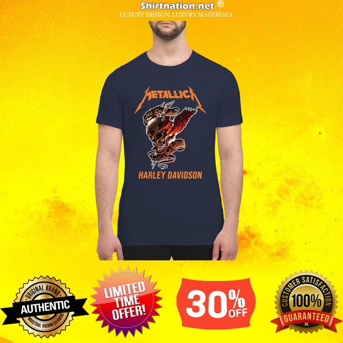 Skull Metallica Harley Davidson premium men's shirt