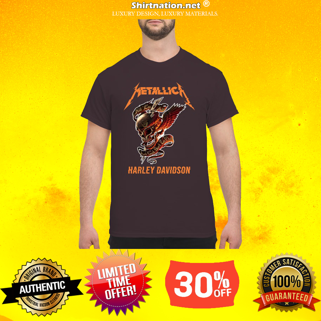 Skull Metallica Harley Davidson shirt