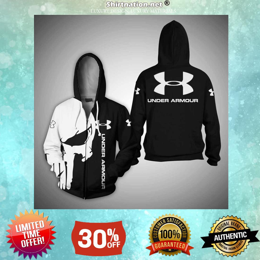 Skull Under Armour 3d shirt and zipper