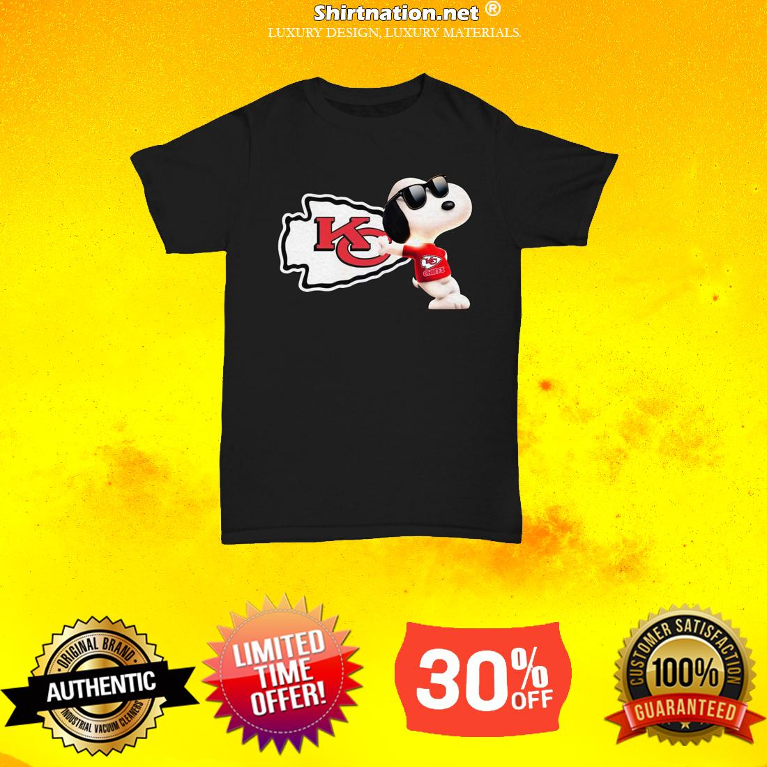 Snoopy Kansas Chiefs unisex tee shirt