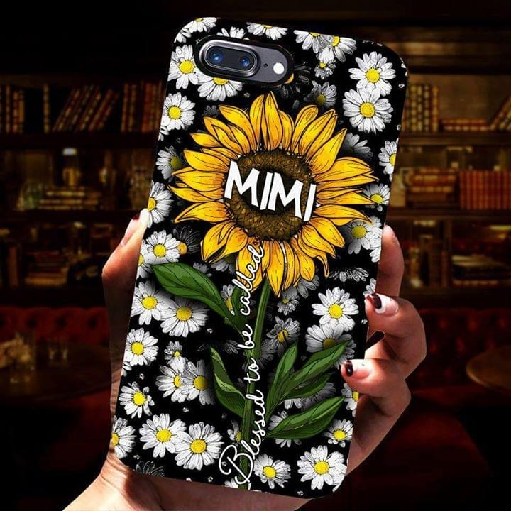 Sunflower Blessed to be called mimi phone case