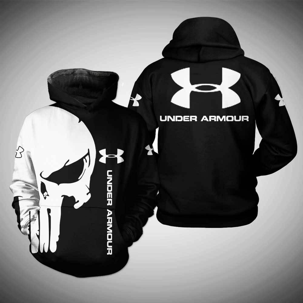 Under Armour skull full print 3D shirt and hoodie