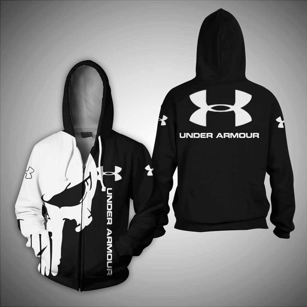 Under Armour skull full print 3D shirt and zipper