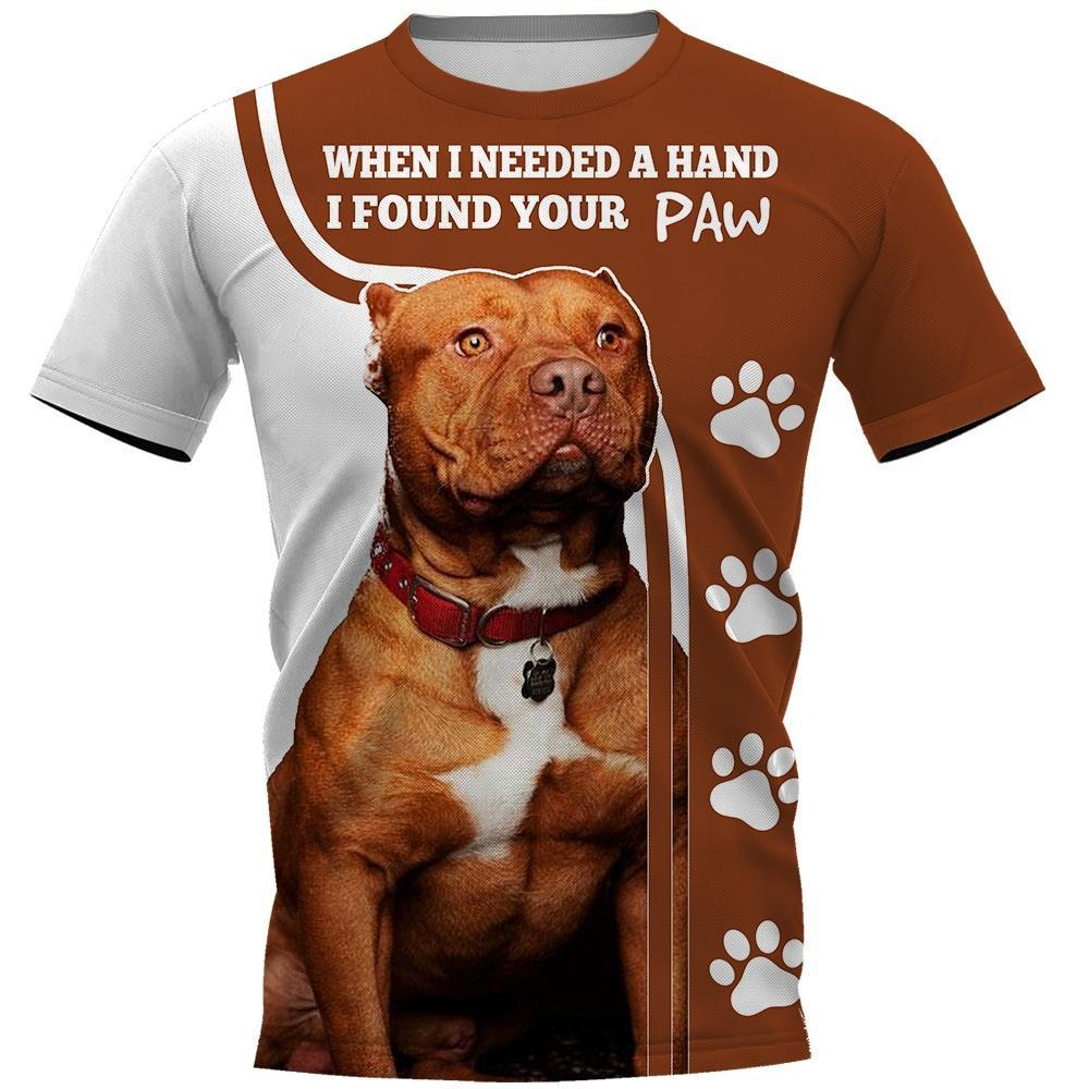 When I need a hand I found your paw all over 3D full print classic shirt