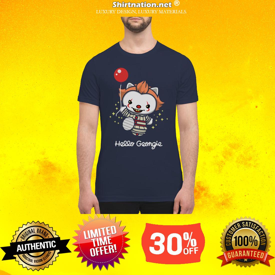 hello kitty hello Georgie premium men's shirt