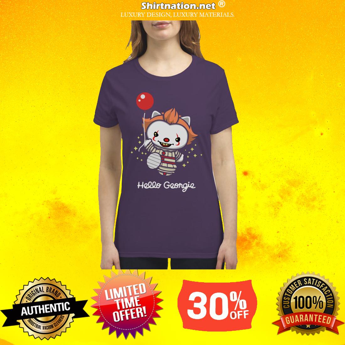 hello kitty hello Georgie premium women's shirt