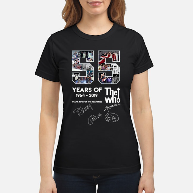 55 years of The Who classic shirt