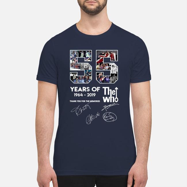 55 years of The Who premium men's shirt