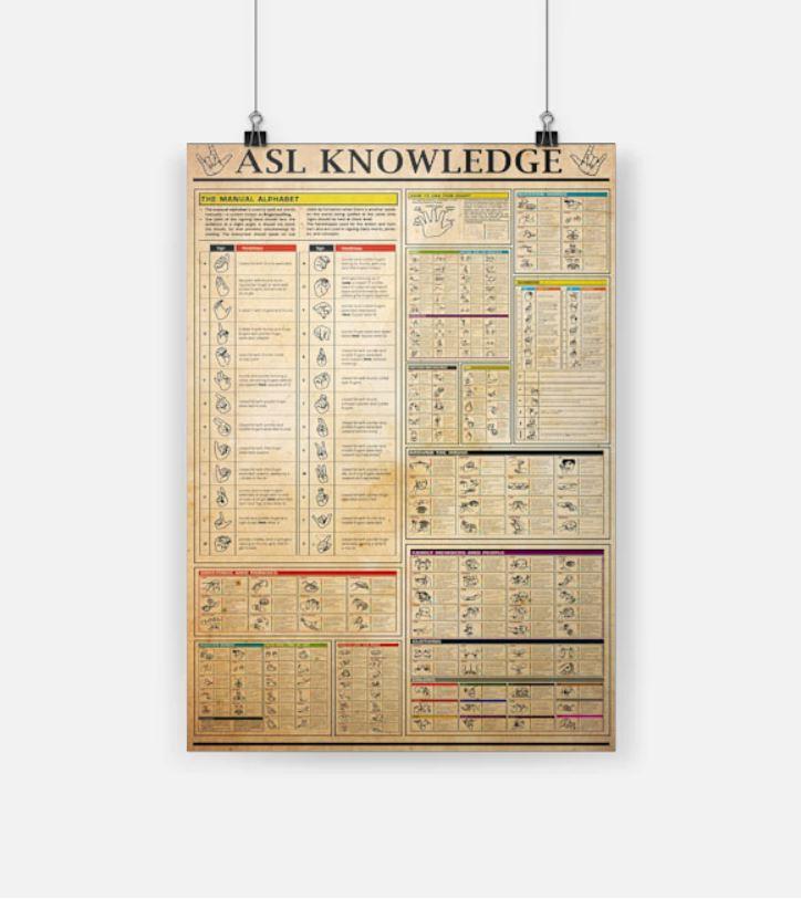 Asl knowledge posters