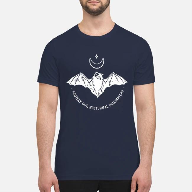 Bat protect our nocturnal pollinators premium men's shirt