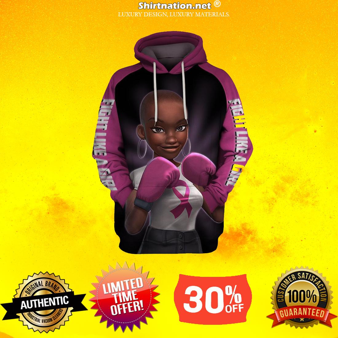 Black Girl Pink Warrior fight like a girl 3d hoodies