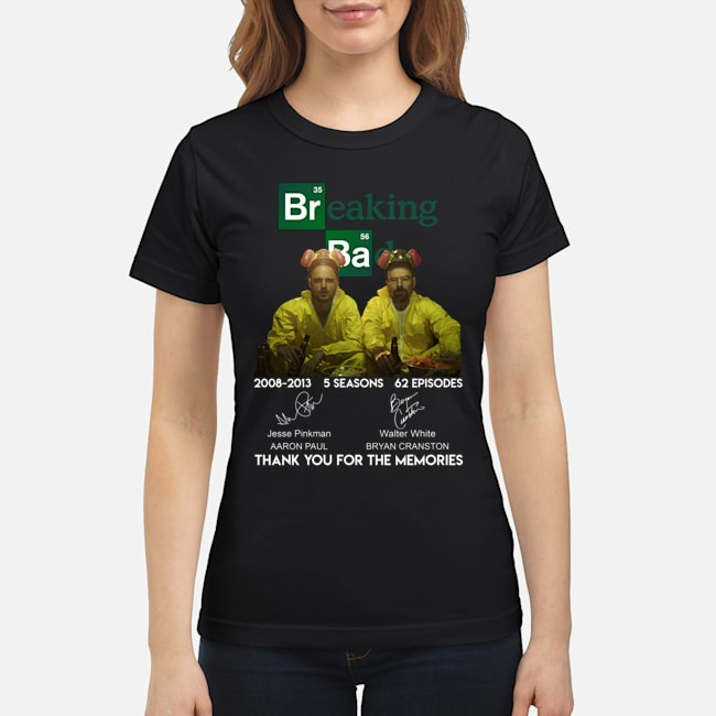 Breaking bad thank you for the memories classic shirt