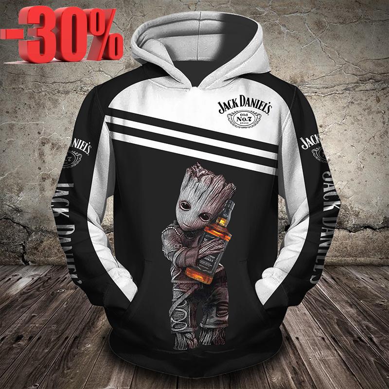 Groot Jack Daniels 3d full print cool hoodie