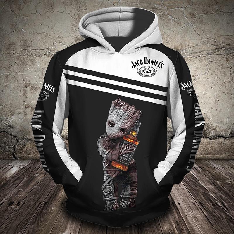 Groot Jack Daniels 3d full print hoodie