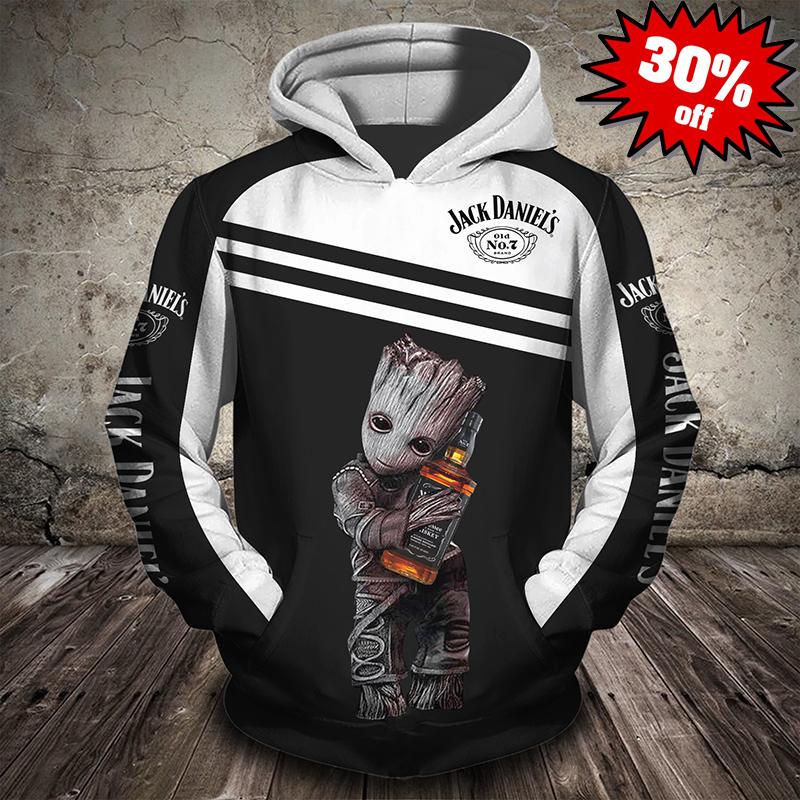 Groot Jack Daniels 3d full print hot hoodie