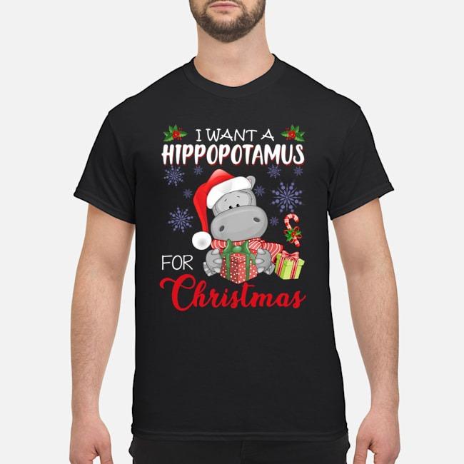 Christmas Fundraiser Shirts.Hottest I Want A Hippopotamus For Christmas Shirt
