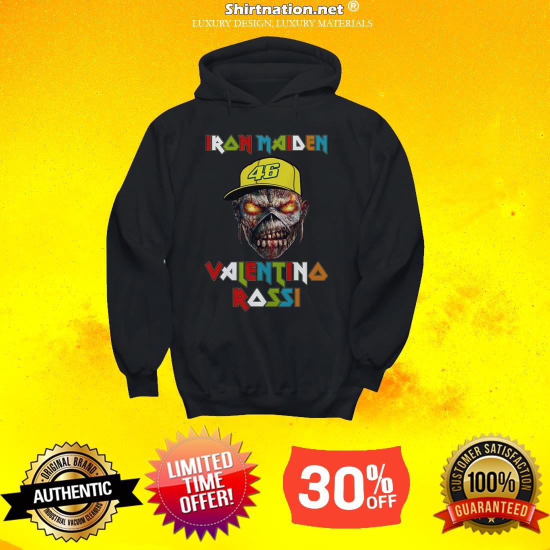 Iron Maiden Valentino Rossi shirt and hoodie