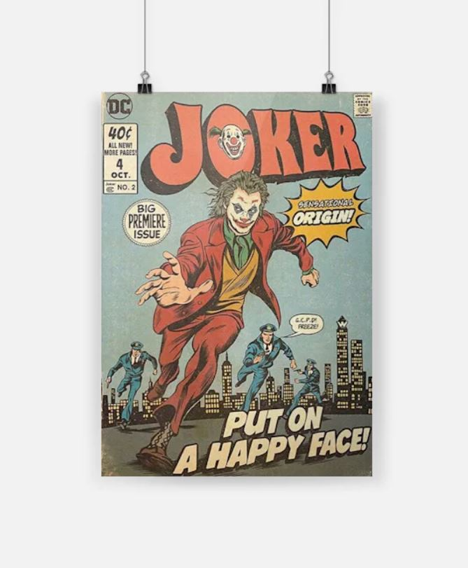 Joker put on a happy face hot poster