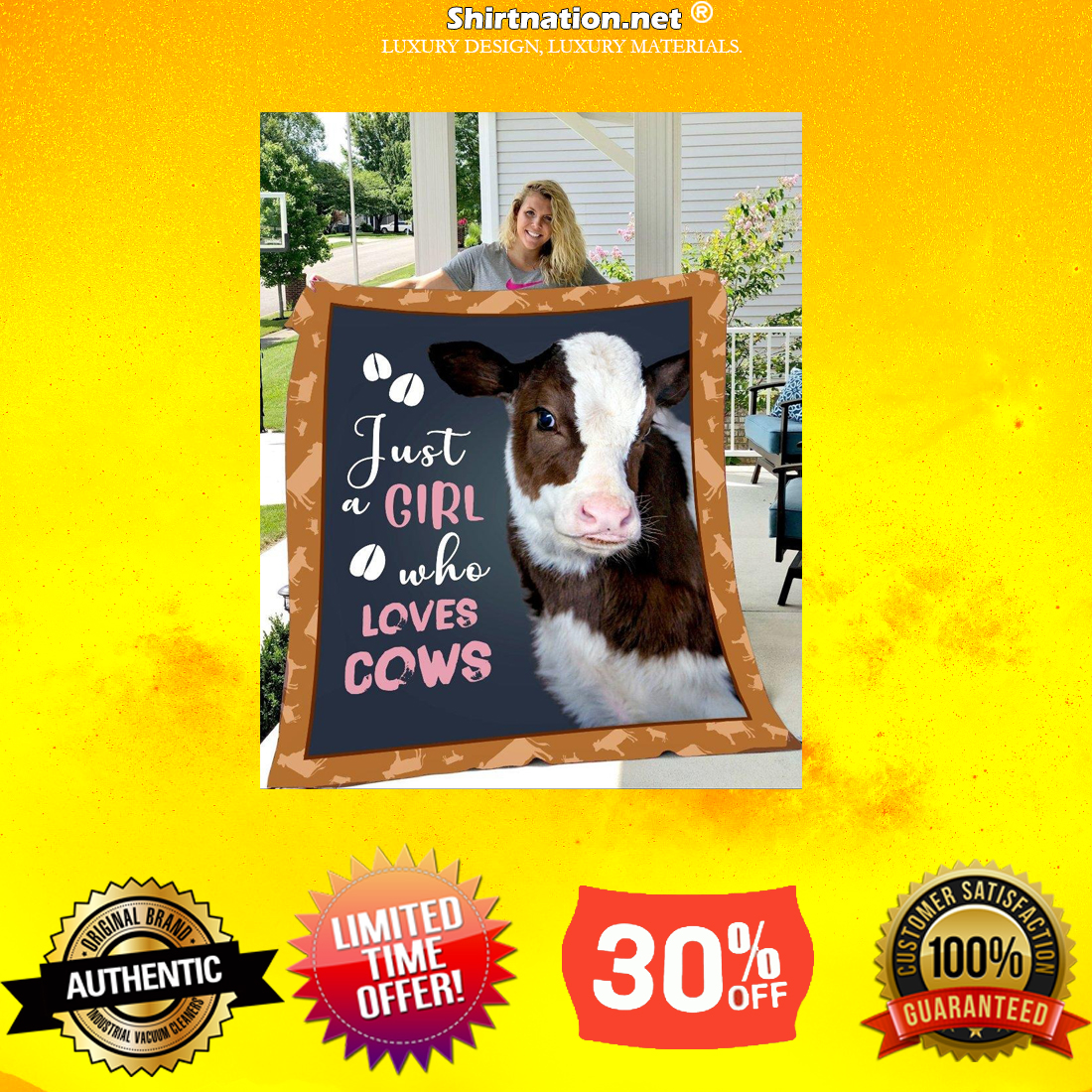 Just a girl who loves cow cool blanket