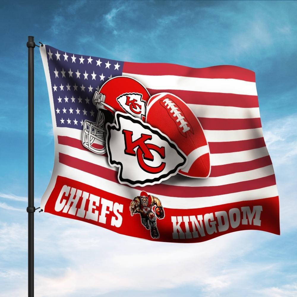 Kansas Chief Kingdom American Flag