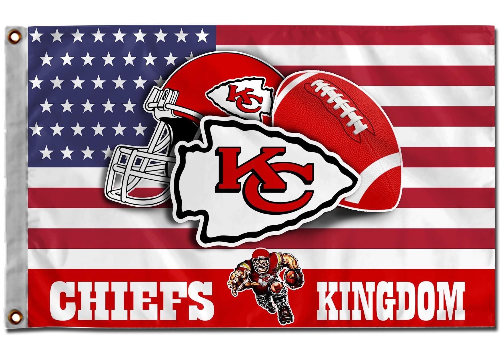 Kansas Chief Kingdom American Flags
