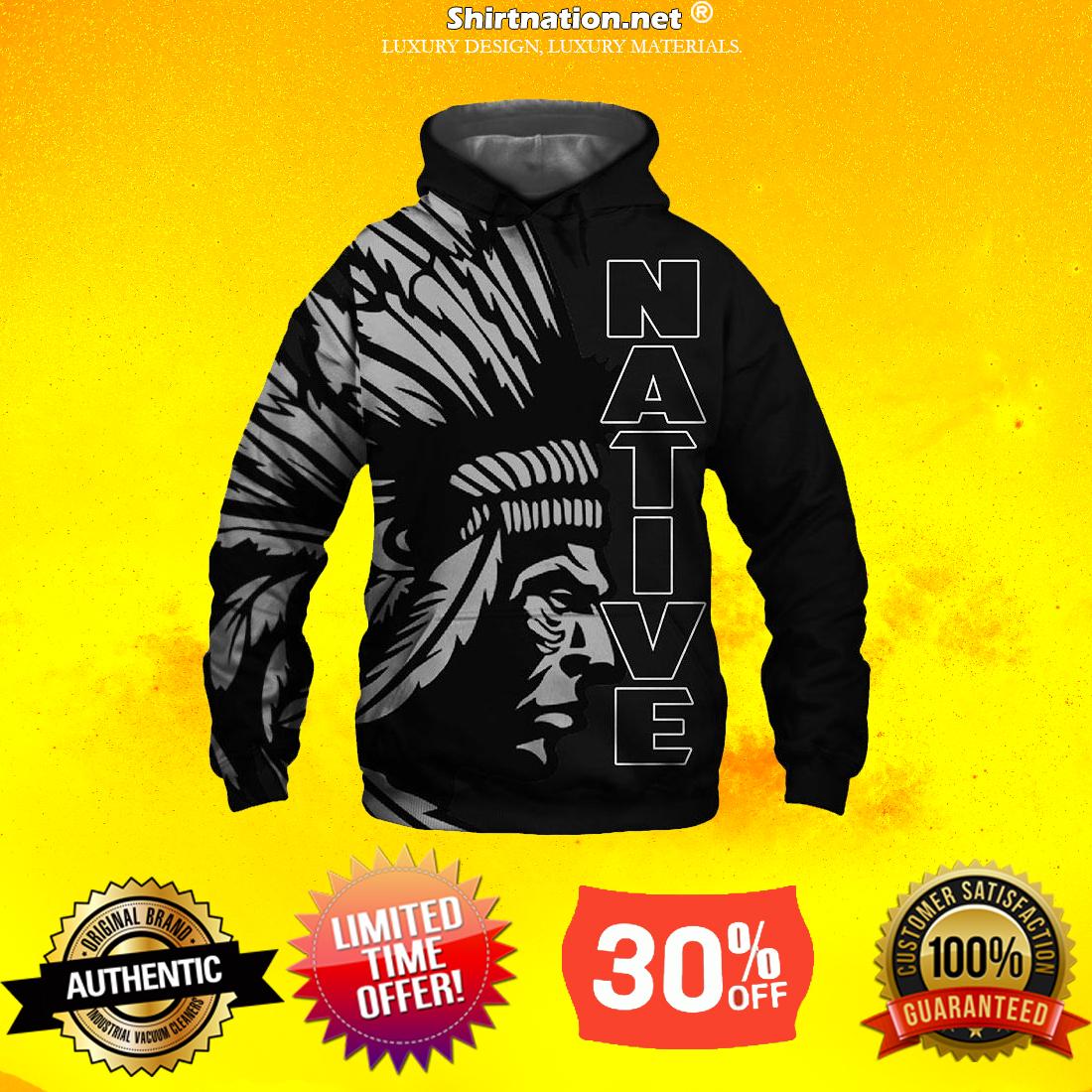 Native American 3d full print hoodie