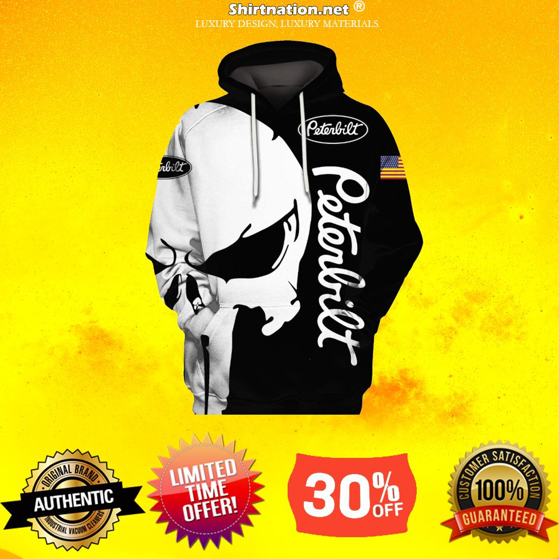 Punisher Skull Peterbilt 3d full print hoodie