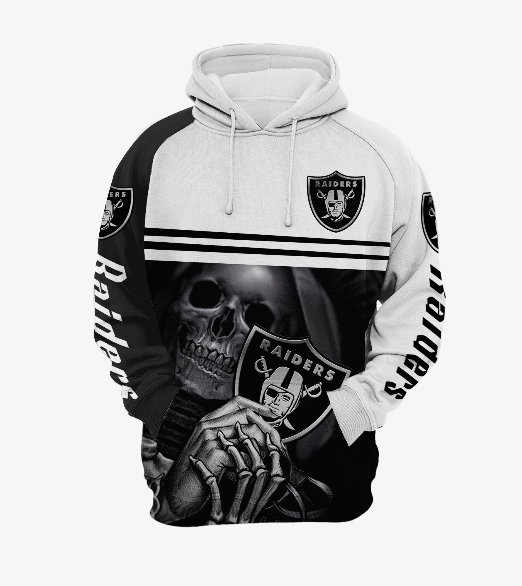Skull Skeleton Oaklands Raiders 3d hoodie