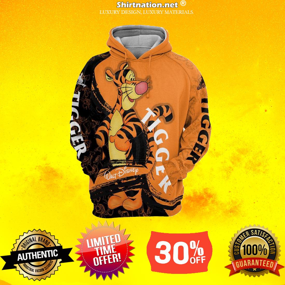 Walt Disney Tiger 3d full print hoodies