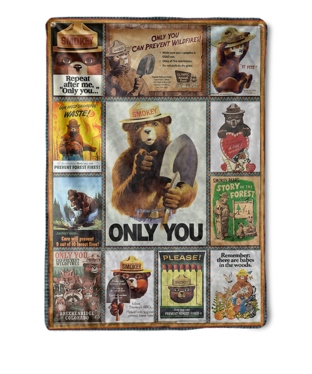 L Smokey The Bear T-shirt Firefighter Remember only you can prevent Wildfires