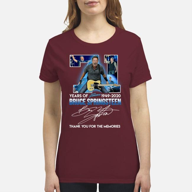 71 years of Bruce Springsteen 1949-2020 premium women's shirt