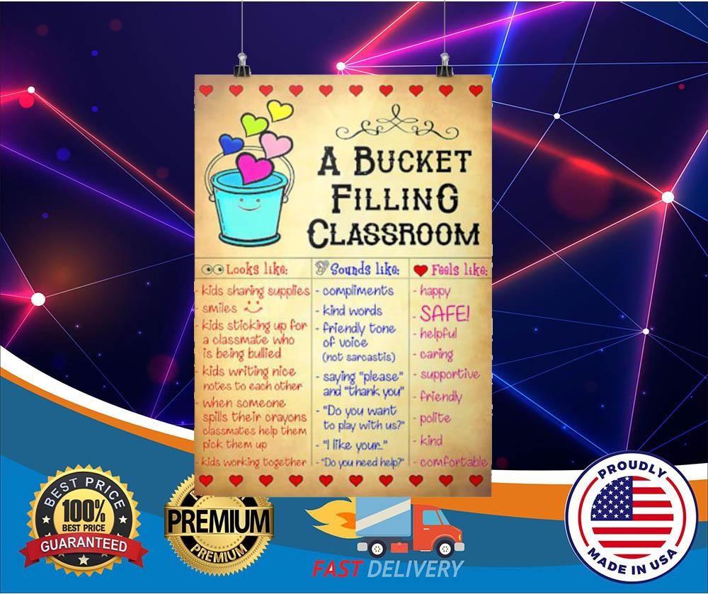 A bucket filling classroom hot poster