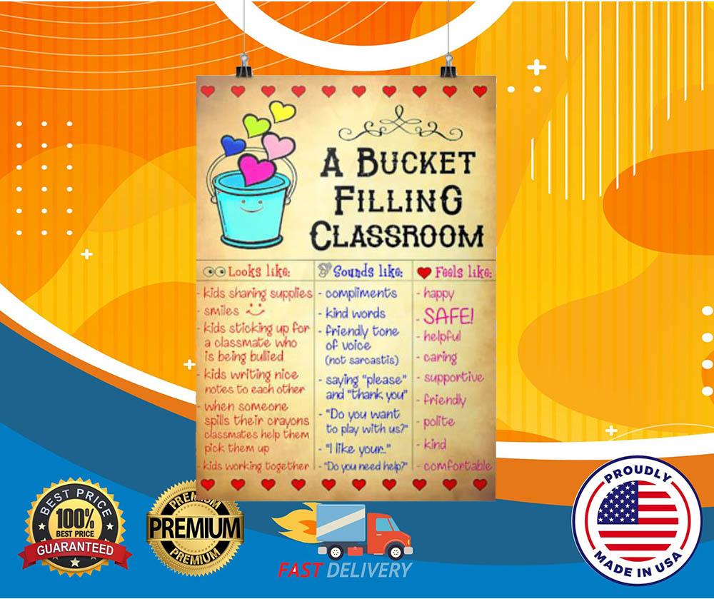 A bucket filling classroom posters