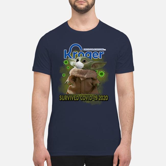 Baby Yoda kroger survived covid-19 2020 premium men's shirt